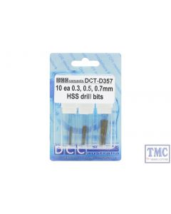 DCT-357 DCC Concepts 10ea of Important Drill Sizes 0.3/0.5/0.7
