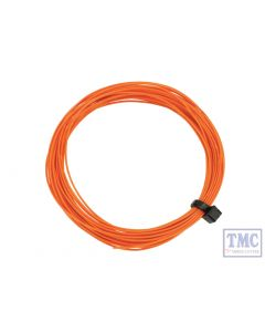 DCW-32OR DCC Concepts N/TT/HO/OO/O/G Scale Orange Stranded Decoder Wire (6m)