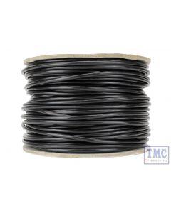 DCW-BK50-3.5 DCC Concepts N/TT/HO/OO/O/G Scale 50m of 3.5mm (11g) Black Power Bus Wire