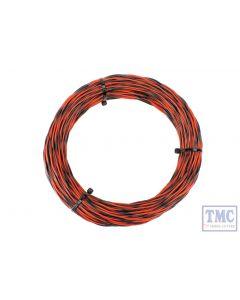 DCW-TW50-1.0 DCC Concepts N/TT/HO/OO/O/G Scale 50m Red & Black 26x 0.015 Dropper Wire