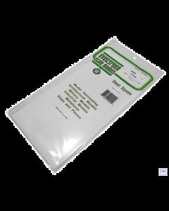 "EG9009 Evergreen Plastics 12"" x 6"" Sheets .005"" thickness Pack of 3"