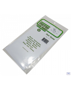 "EG9040 Evergreen Plastics 12"" x 6"" Sheets 0.040"" thickness Pack of 2"