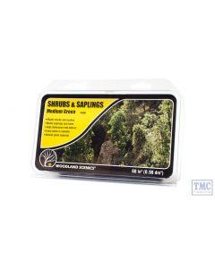 F1129 Woodland Scenics Mediun Green Shrubs & Saplings