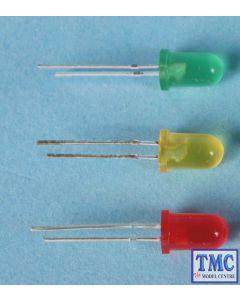 GM83 Gaugemaster LED Green 5mm 12v (5) Use GM76 Resistors
