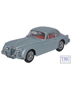 JAGXK150007 Oxford Diecast 1:43 Scale O Gauge Jaguar XK150 Fixed Head Coupe Mist Grey