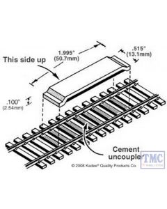 KDE322 Kadee 322 OO Gauge Magne-Matic Delayed Magnetic Uncoupling Magnets (Pk2) for Code 83 Track