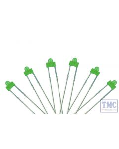 LED-GRD DCC Concepts N/TT/HO/OO/O/G Scale Green 1.8mm Panel Dot Type LED w/Resistors (6)