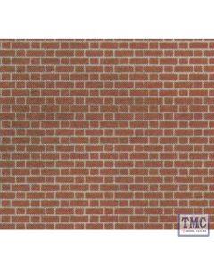 M0054 Metcalfe OO Gauge Red Brick 4 Sheets Card Kit