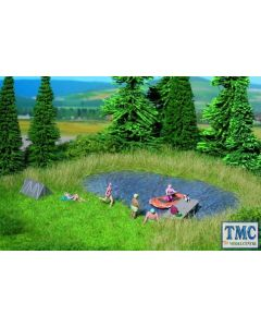 N07442 Noch Z/N/TT/HO/OO/O/Gauge 1/G Scale Bathing Lake Natur+ Mat 22x20cm with Grass Tufts (10)