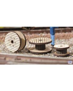 N14638 Noch N Gauge Laser Cut Mini - Cable Drums (3)
