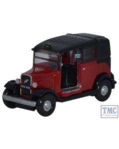 NAT004 Oxford Diecast 1:148 Scale Austin Low Loader Taxi Burgundy Austin Low Loader Taxi