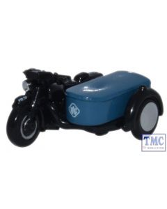 NBSA002 Oxford Diecast 1:148 Scale Motorbike and Sidecar RAC BSA Motorcycle