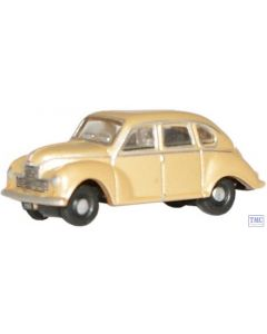 NJJ002 Oxford Diecast Jowett Javelin Met Gold 1/148 Scale N Gauge