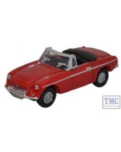 NMGB001 Oxford Diecast 1:148 Scale N Gauge MGB Roadster Tartan Red