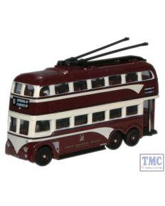 NQ1007 Oxford Diecast 1:148 Scale Trolleybus Cardiff (Streamline)
