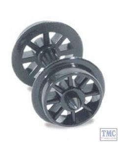 NR-101 Peco N Gauge Spoked Wheels on axles, Hardlon mouldings 4 In Pack