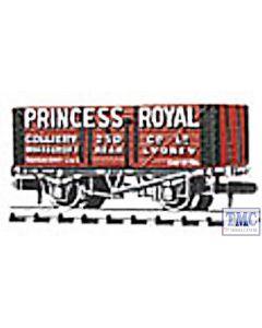 NR-P96 Peco N Gauge Coal, 7 plank, Princess Royal