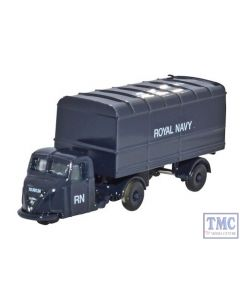 NRAB010 Oxford Diecast 1:148 Scale Scammell Scarab Van Trailer Royal Navy