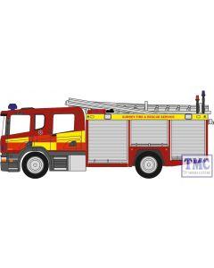 NSFE007 Oxford Diecast N Gauge Scania Pump Ladder Surrey F & R