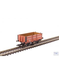 OR76MW4008 Oxford Rail OO Gauge 4 Plank Wagon Greenhill Colliery Co Ltd no.334