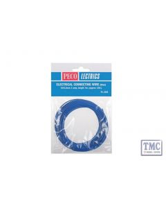PL-38B Electrical Wire Blue 3 amp 16 strand Peco
