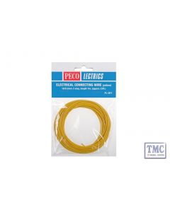 PL-38Y Electrical Wire Yellow 3 amp 16 strand Peco