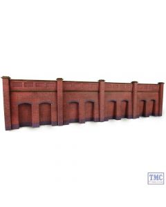 PN145 Metcalfe N Scale Retaining Wall in Red Brick
