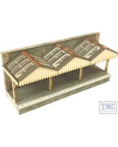 PN941 Metcalfe N Scale Wall Backed Platform Canopy Card Kit