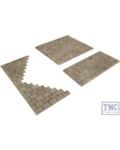 PO210 Metcalfe OO/HO Self Adhesive Paving Slabs Card Kit