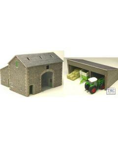 PO251 Metcalfe OO/HO Manor Farm Barn Card Kit