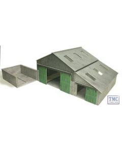 PO252 Metcalfe OO/HO Manor Farm Buildings Card Kit