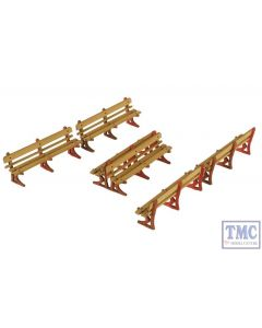 PO502 Metcalfe OO/HO Platform Benches (red type) Card Kit