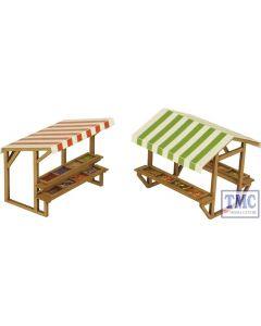 PO530 Metcalfe OO/HO Gauge Market Stalls (2) Card Kit