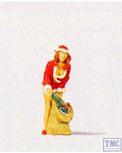 PR29028 Preiser OO/HO Gauge Girl In Christmas Outfit with Gifts