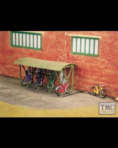 SS23 OO Gauge Bicycle shed & Bicycles