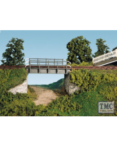 SS28 OO Gauge Occupational Bridge & Stone Abutments Single Track