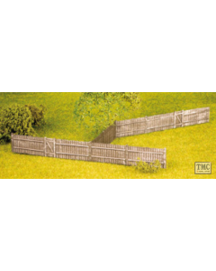 SS41 OO Gauge Feather Edge Board Fencing inc. Gates