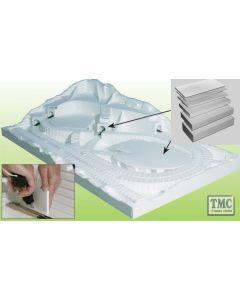 """ST1422 Woodland Scenics .25"""" x 2' Long Foam Sheet (x4/Pack)"""