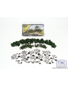 "TR1111 Woodland Scenics .75""-3"" Medium Green Deciduous Trees (21/Kit)"