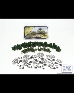 "TR1111 Woodland Scenics .75""-3"" Medium Green Deciduous Trees (21/Kit)"