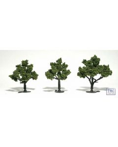 """TR1506 Woodland Scenics 3""""-4"""" Ready Made Light Green (3/Pk)"""