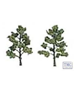"""TR1512 Woodland Scenics 5""""-6"""" Ready Made Light Green (2/Pk)"""