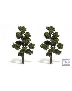 """TR1513 Woodland Scenics 5""""-6"""" Ready Made Medium Green (2/Pk)"""