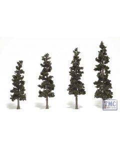 "TR1561 Woodland Scenics 4""-6"" Ready Made Pine (4/Pk)"