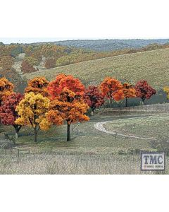 """TR1575 Woodland Scenics .75""""-2"""" Ready Made Fall Colours Deciduous Value Pack (38/Pk)"""