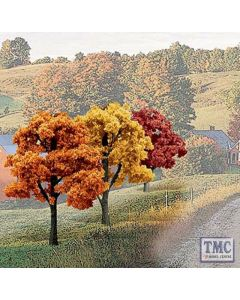 "TR1577 Woodland Scenics 3""-5"" Ready Made Fall Colours Deciduous Value Pack (14/Pk)"