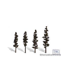 "TR3561 Woodland Scenics 4""-6"" Classic Standing Timber (4/Pk)"