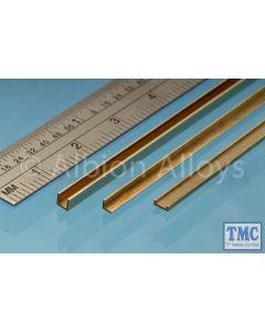 UC1 Albion Alloys Brass U Channel 1 x 1 x 1 mm 1 Pack