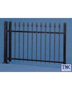VO45007 Vollmer OO Gauge Iron Fence Black (190cm long)
