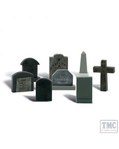 A2554 Woodland Scenics Painted Figures G Tombstones